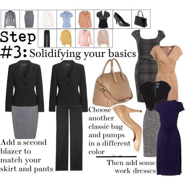 """Work Wardrobe: Step 3"" by thepolyvorina on Polyvore #personalbrand #workattire"
