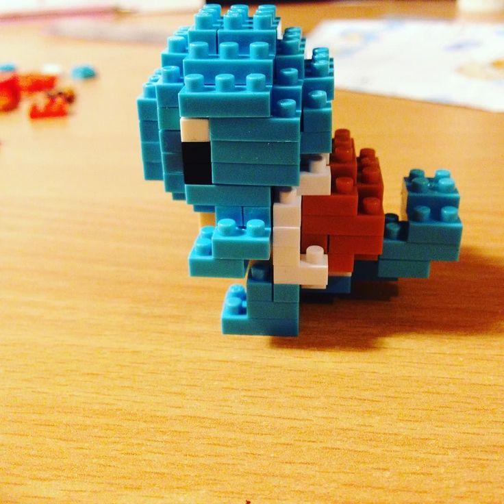 Squirtle!!!! Aww Soo cute #Squirtle #Nanoblock  #model #pokemon #cute #block #toy #build #art #artwork #construction #자기야 #나노블럭