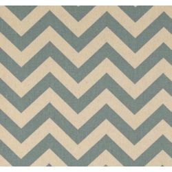 Chevron Zig Zag Natural Village Blue CHVB