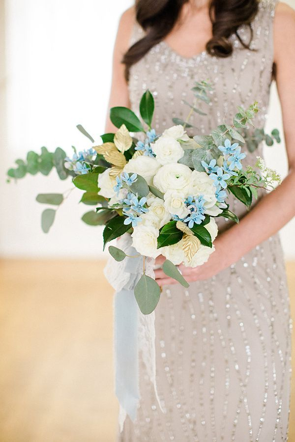 The bridesmaids' bouquets consisted of white 'Majolica' spray roses and…