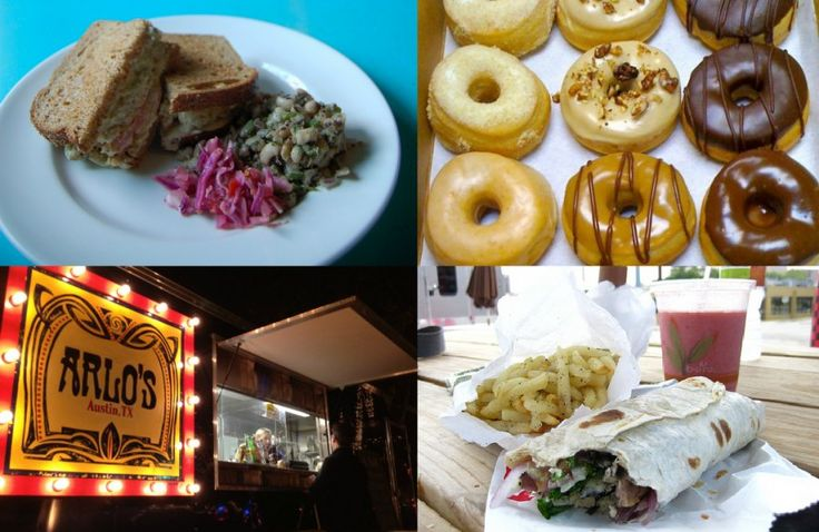 AUSTIN  The 16 Best Vegan and Vegetarian Restaurants in Austin, Texas. Clockwise: The Meltdown (faux tuna) at Counter Culture, vegan donuts at Red Rabbit bakery, wraps at Conscious Cravings, a late night stop at Arlo's.