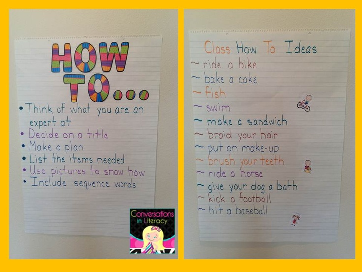 Procedural Writing:  How To Anchor charts