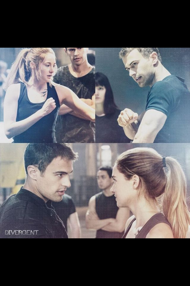 Divergent. So excited! Theo James as Four and Shailene Woodley as Tris Prior
