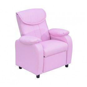sofa infantil reclinable xxcm lxanxal sillon nios cuero rosa