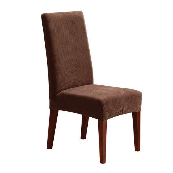 Stretch Pique Box Cushion Dining Chair Slipcover Slipcovers For Chairs Dining Chairs Dining Chair Slipcovers