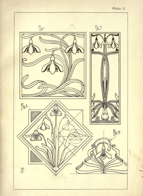 810 best art nouveau pattern images on pinterest art for Art nouveau shapes