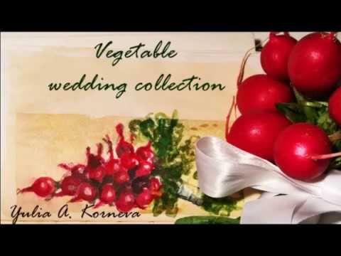 Vegetable wedding collection is here! Watch the first video --- La collezione vegetale è qui! guarda il primo video ---- #art #arte #wedding #matrimonio #bouquet #rape #vegan #acquerello #watercolor #madeinitaly #yuliakorneva