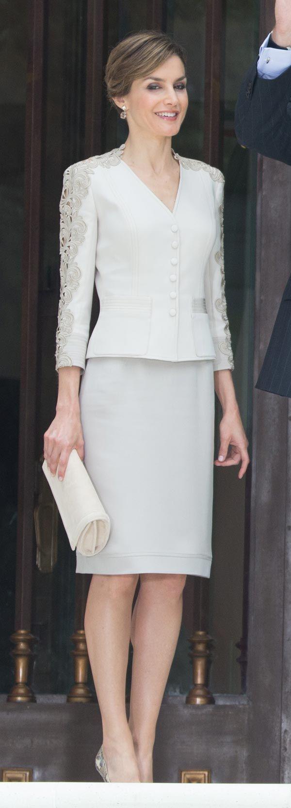 La Reina Doña Letizia posa en Los Pinos dónde los reyes fueron invitados para una cena privada. Mexico DF 29 junio 2015