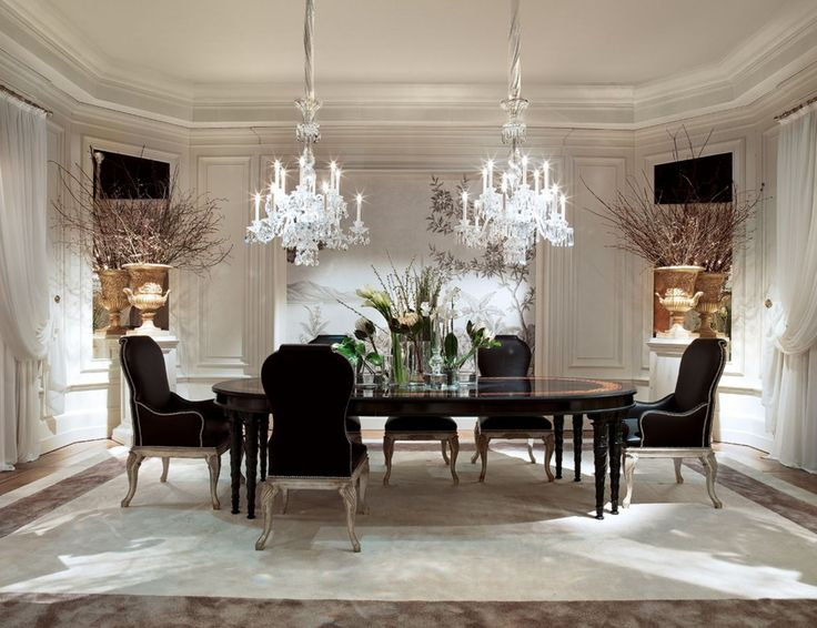 This Glamorous Black And White Dining Room Was Completed By Provasi. #luxeFL