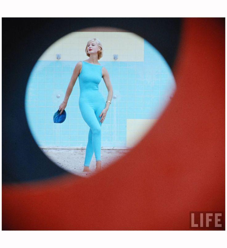 Beach Fashions Skin-tight Suit, Malibu, California, 1958 Photo Gordon Parks