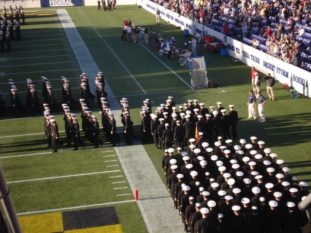 Football Game at Naval Academy Stadium