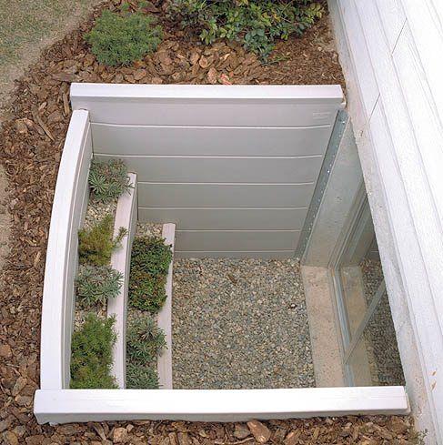 Window well decorating creative basement window gives for Basement bedroom ideas no windows
