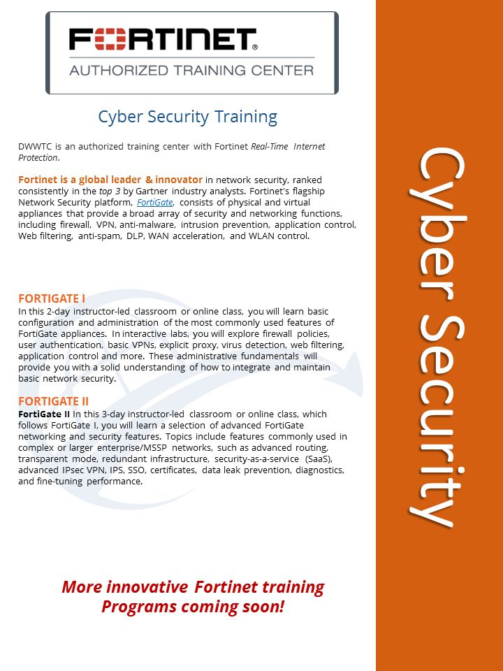20 best certification programs images on pinterest coding cybersecurity training with fortinet available at dwwtc fandeluxe Gallery