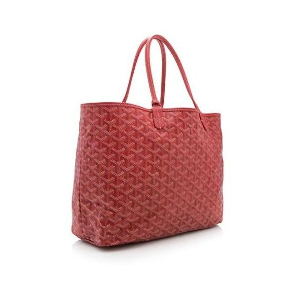 Pre-Owned Goyard Goyardine Canvas St. Louis PM Tote ($1,150) ❤ liked on Polyvore featuring bags, handbags, tote bags, canvas handbags, goyard tote bag, red canvas tote bag, goyard tote and red purse