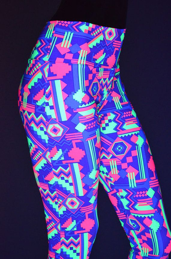 Neon Gemoetric Aztec Print Purple Hot Pink & by CoquetryClothing, $49.99