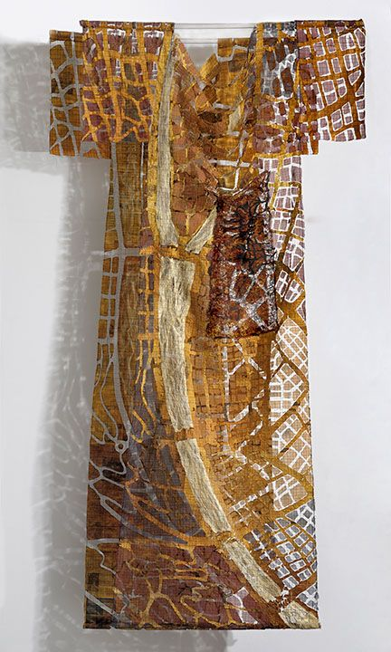 'City Skins' by Eszter Bornemisza. Check out bit.ly/1Lt2tH2 to learn more! #Fiberartnow #FiberFriends