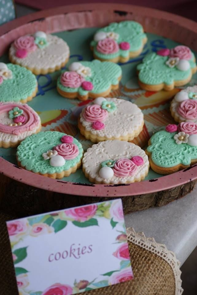 romantic vintage style butter cookies