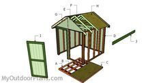 How to build a 8x8 shed #DIYShed8x8