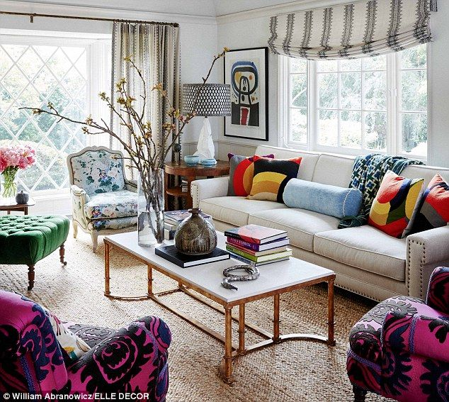 Eclectic mix:The actress purchased the 1940s ranch in the Hollywood Hills a few years ago and wanted it to reflect her childhood of travels and English heritage simultaneously