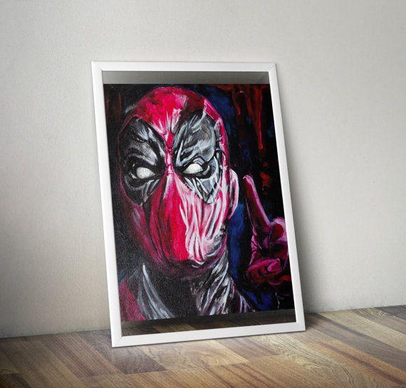 Impression pour vos murs deadpool marvel  tableau par Chezrazad