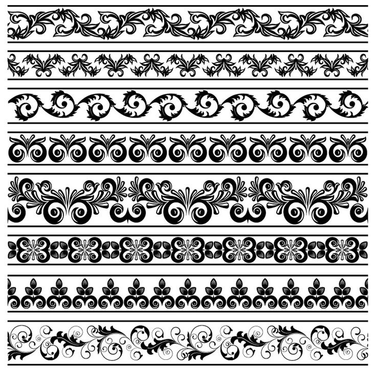Classic lace pattern template vector-3
