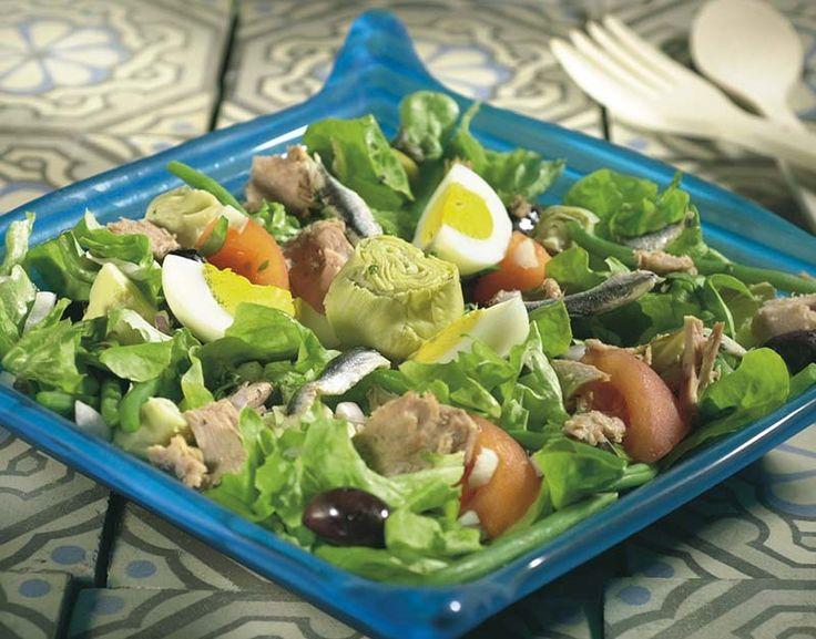 Salade niçoise met gemarineerde ansjovis   Colruyt
