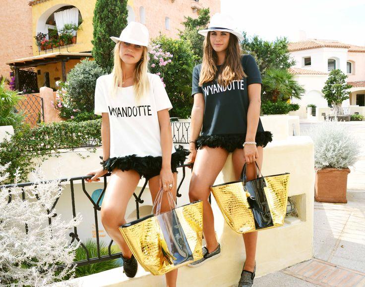 Borsa Mare WyandOtte Cocco Oro/Trasparente e Nera http://bit.ly/WaOmare