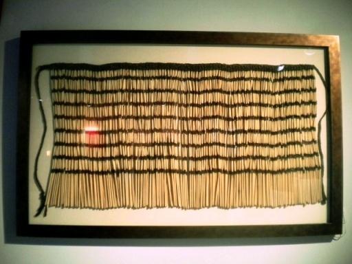 Maori Piupui Ceremonial skirt, New Zealand. Framed mtcontempo.com