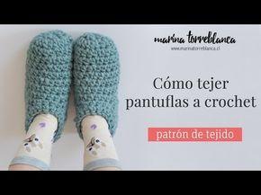 El tutorial mas completo para tejer pantuflas a crochet  Patron de tejido   - Marina 1a79b8df7e7