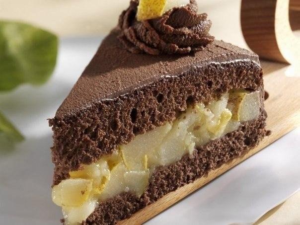 Немецкий грушевый торт