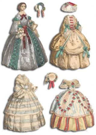 Free Printable Victorian Paper Dolls | American Lady from Morphy's Auction