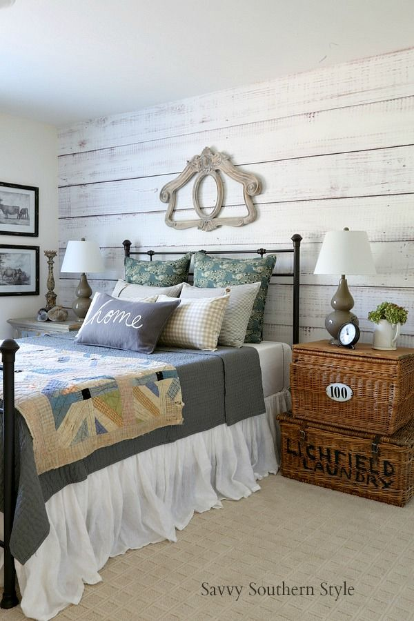 Fall Style French Farmhouse Guest Bedroom 289