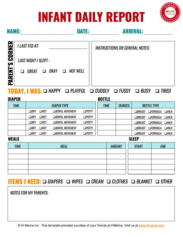 12 best Infant, Toddler \ Preschool Daily Report Templates images - time sheet templates