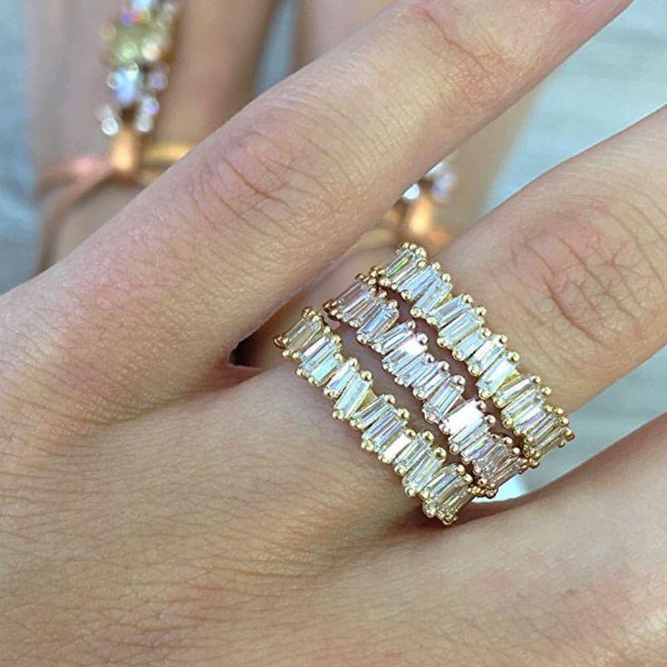 @suzannekalan #suzannekalan #ringstack #baguettes #perfection #jaimiegellerjewelry