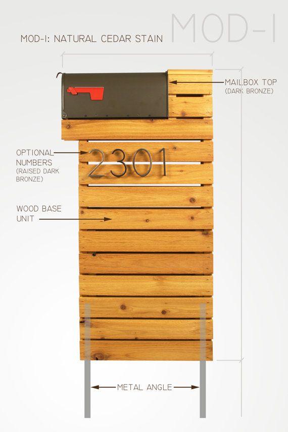 Modern Mailbox Natural Cedar by ModernistMailbox on Etsy