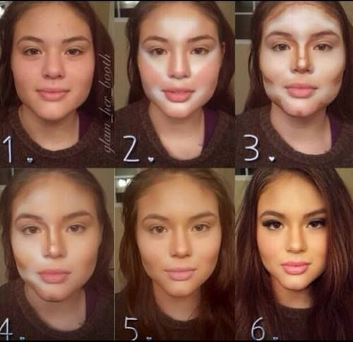 This is so cool!  How to Apply Contour Makeup.  Check out the link for TONS of #makeup tutorials!!  See more pins from #ShrinkThatBellyFat