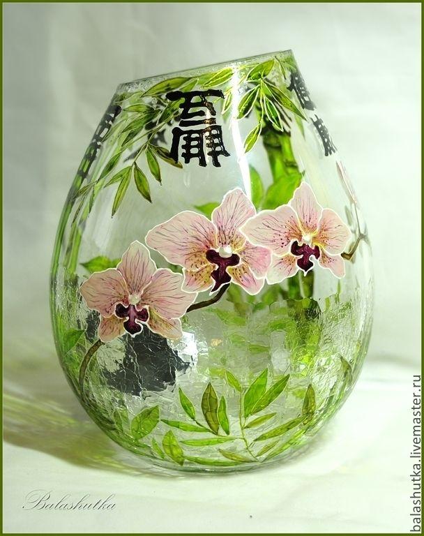 """Ваза """"Дзен""""   Hand painted vase """"Zen"""""""
