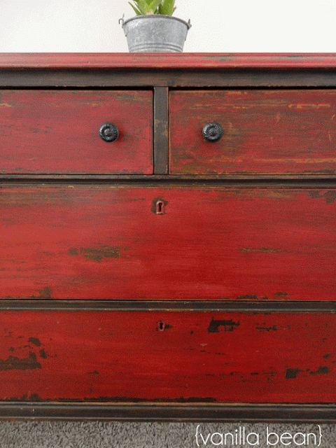 Love the red ..From a First-Timer: Three Tips for Using Miss Mustard Seed's Milk Paint