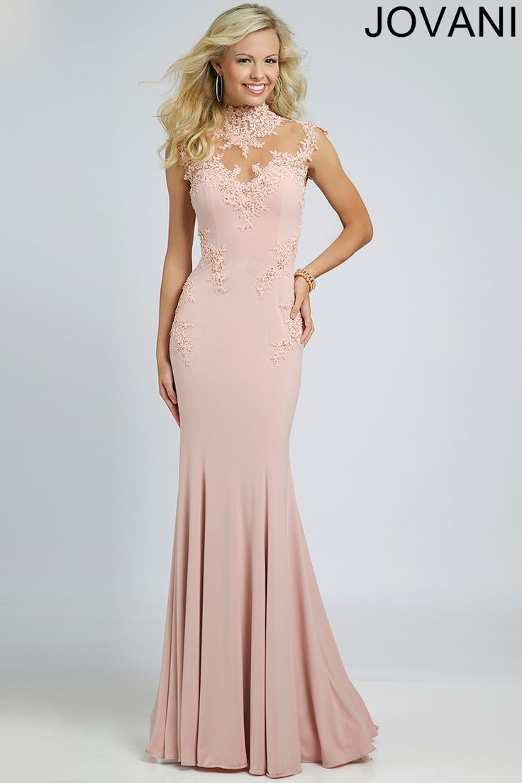 Pink Jersey Evening Gown