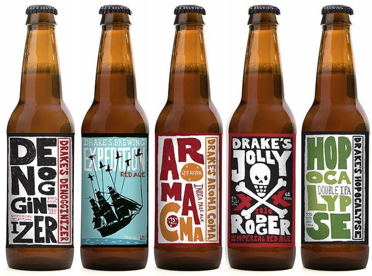 Drake's Brewing Company / molly mccoy: Design Inspiration, Beer Labels Design, Beer Packaging, Packaging Design, Graphics Design, Packaging Inspiration, Brewing Company, Bottle Design, Drake Brewing