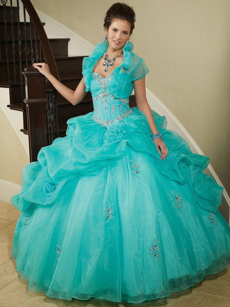 Quinceanera Dresses 2014 Mint Exclusivos vestidos de...