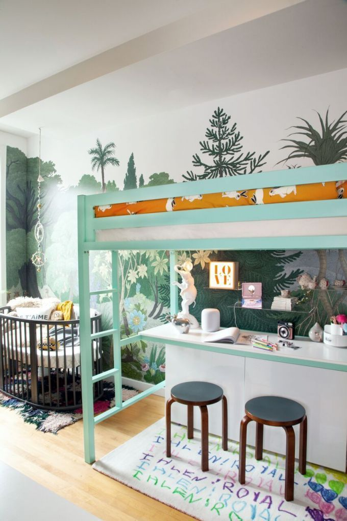 How One Nyc Family Makes The Absolute Most Of Every Square Inch Of Their Apartment Small Room Design Family Room Design One Bedroom Apartment
