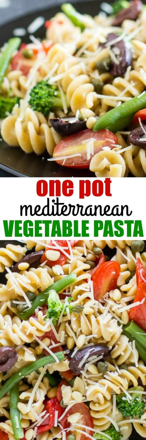Since BJ's Brewhouse discontinued their Mediterranean Vegetable Pasta, I've been making this easy version at home! SO GOOD.