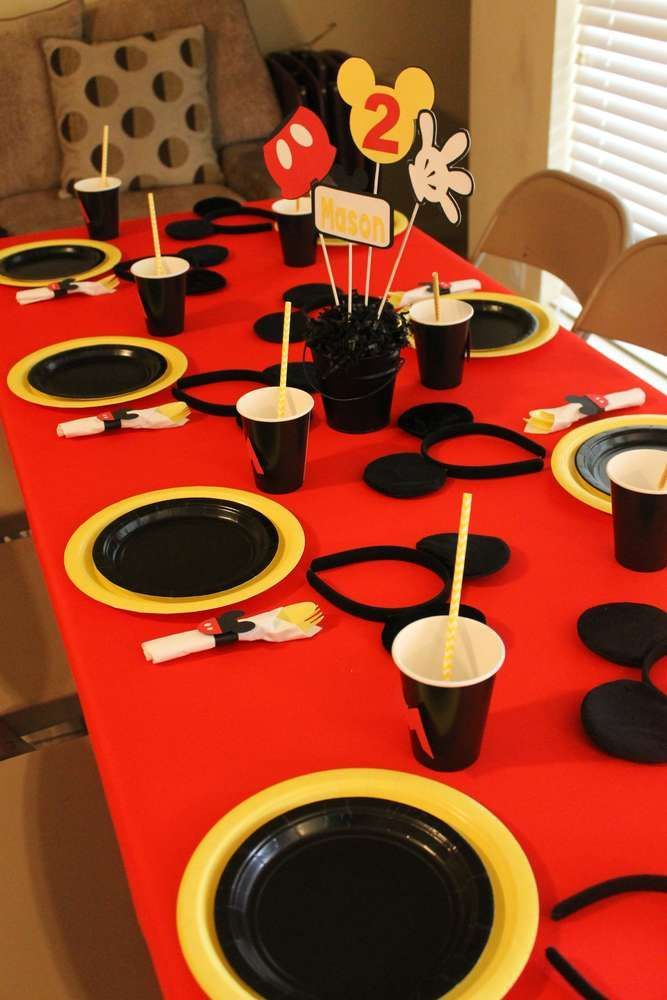 Mickey Mouse Birthday Party Ideas | Photo 2 of 14 | Catch My Party