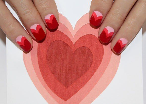 Valentine's Day Nail Art: Heart Nails, Nailart, Nails Art Idea, Valentine'S S, Valentines Day, Valentine Nails, Valentine Day Nails, Nails Art Design, Nail Art