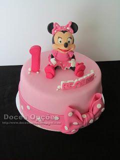 Doces Opções: A Minnie no aniversário da Beatriz