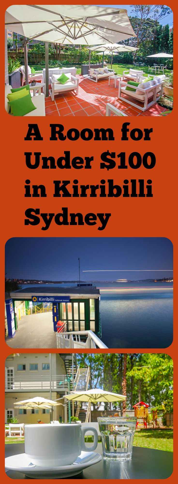 Sydney's exclusive harbour side suburb of Kirribilli isn't where most people would expect budget boutique hotels. But there is a way to find a room for under $100 a night.