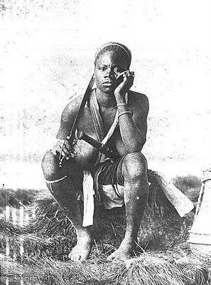 Dahomey Amazon Female Warrior 1890