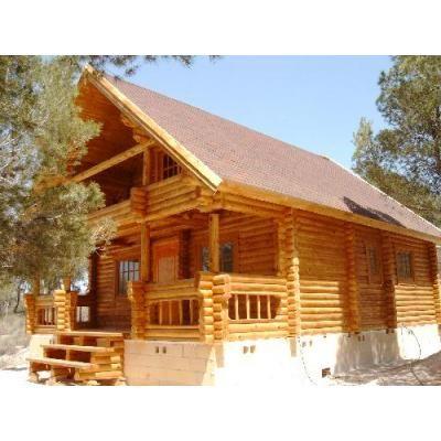 Construcci n de caba as r sticas alpinas techos de - Cabanas de madera economicas ...