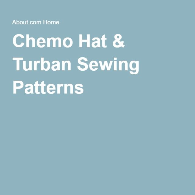 Chemo Hat & Turban Sewing Patterns